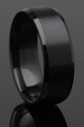 Gümüşbox Köşeli Model Siyah Çelik Alyans