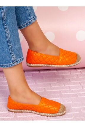 ayakkabıhavuzu Kadın Turuncu Günlük Suni Deri Ayakkabı