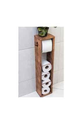 Weblonya Tuvalet Kağıtlığı Ahşap Banyo Wc Kağıtlık 3008