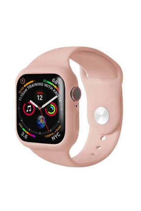 Apple Rose Gold Microsonic Watch Series 5 44mm Kordon 360 Coverage Silicone