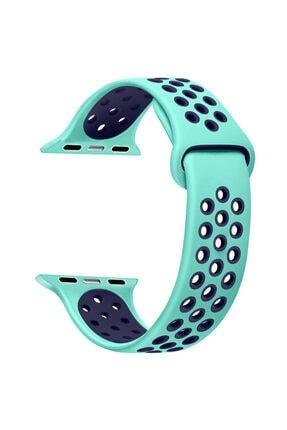 Apple Microsonic Watch Series 6 44mm Uyumlu Rainbow Sport Band Kordon