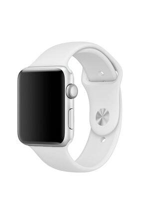 Apple Microsonic Watch Series 3 38mm Silikon Beyaz Kordon