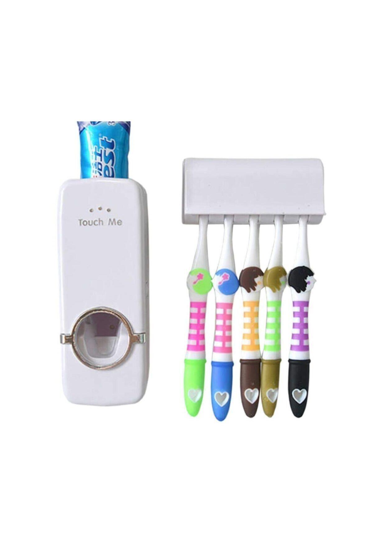 CMT Diş Macunu Sıkma Makinesi Fırça Tutucu Macun Sıkacağı 5li Fırçalı 2