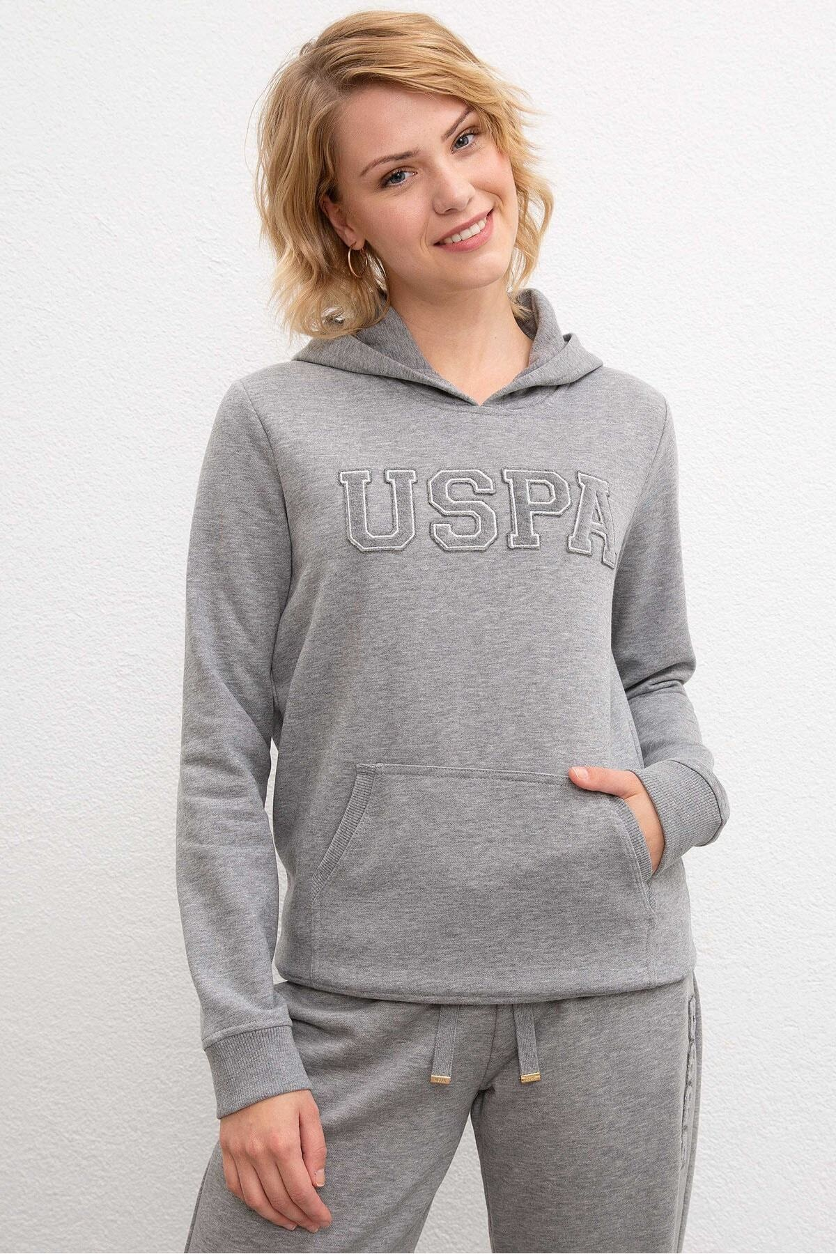 U.S. Polo Assn. Gri Kadin Sweatshirt 1