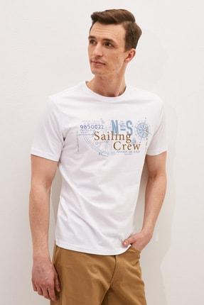 LC Waikiki Erkek Beyaz Tişört