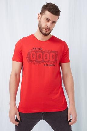 Fashion Friends Baskılı T-shirt Kırmızı