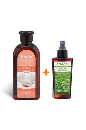 Tresan Sarımsaklı Bakım Şampuanı 300ml - Kayın Ağacı Güçlendirici Ve Canlandırıcı Saç Toniği 125 Ml