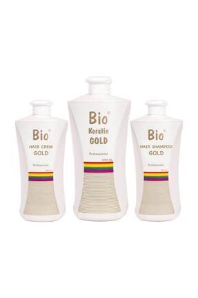 Bio Keratin Gold Profesyonel Brezilya Fönü 700 ml 3 Lü Set