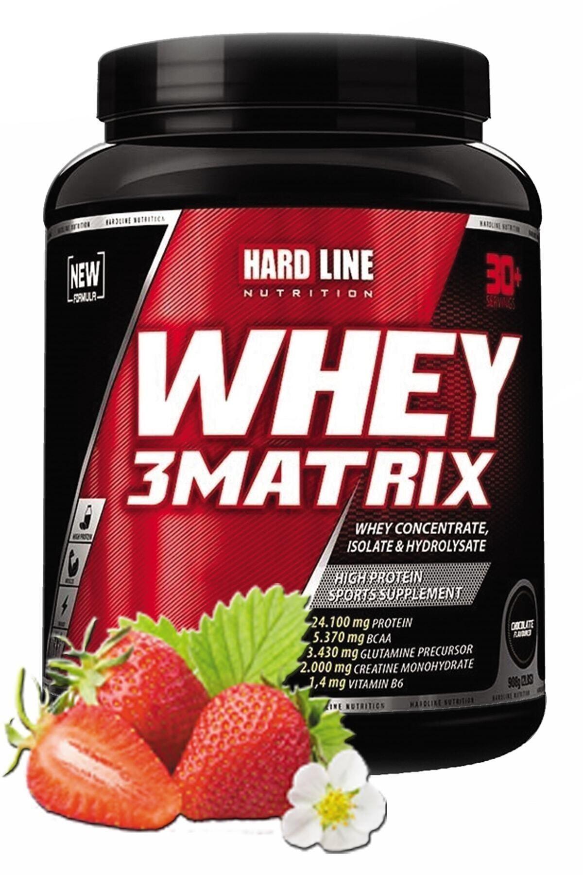 Hardline Whey 3 Matrix Çilekli 908 gr Protein Tozu 1