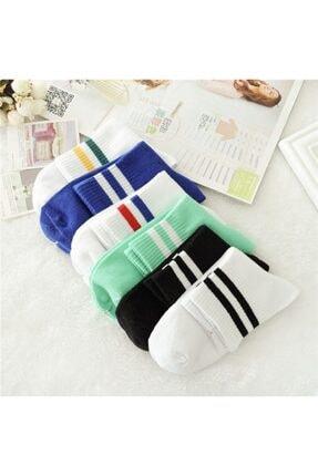 BGK Unisex Çemberli Kolej Desen Çorap 6'lı