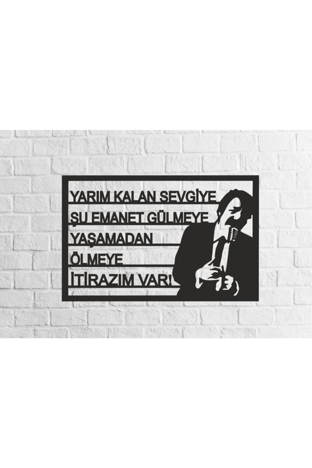 RetroLazer Müslüm Gürses Silüetli Mdf Tablo Evinize Ofisinize Yeni Tarz Wall 1