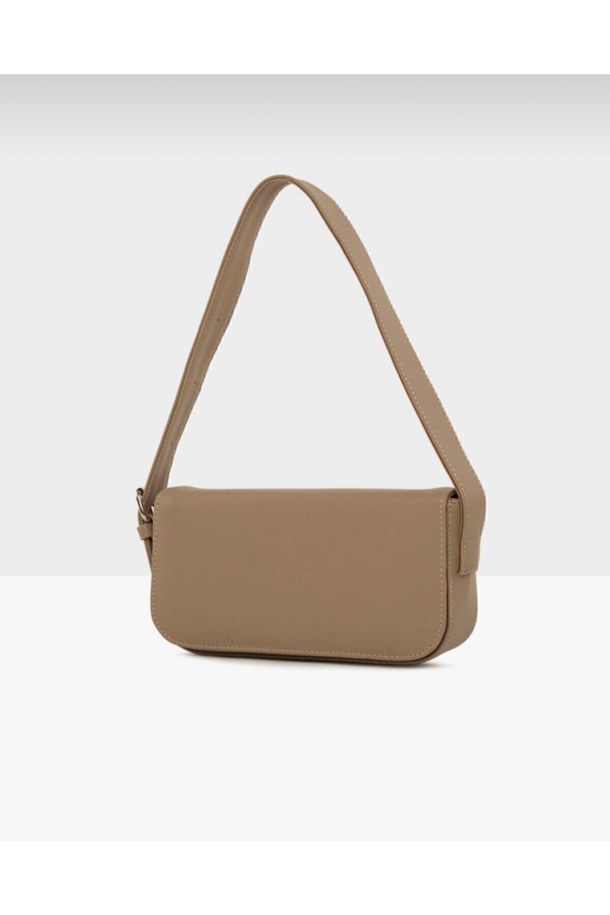 bag&more Kadın Vizon Kapaklı Baget Çanta 2