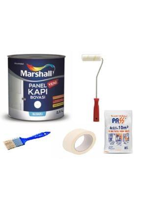 Sivar Kokusuz Marshall Amerikan Panel Kapı Boyası Su Bazlı 2,5 Lt 5 Parça Boyama Seti Beyaz