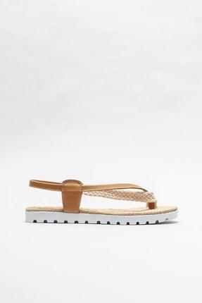 Elle Shoes Kadın Naturel  Parmakarası Sandalet