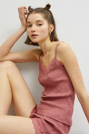Koton Kadın Rose Pijama Üstü 1KLK22197MK