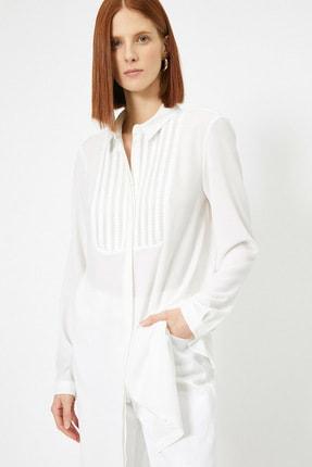 Koton Kadın Beyaz Düğme Detaylı Tunik 0YAK68491GW