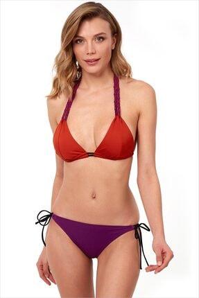AYYILDIZ Kadın Mürdüm Üçgen Kesim Bikini Takım 40700