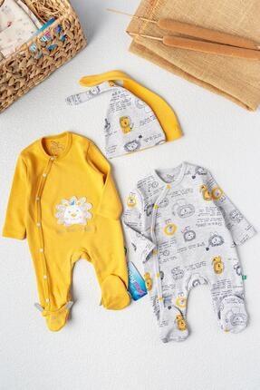 Babymod Erkek Bebek Tulum Aslan Temalı Ikili Erkek Bebek Tulum Takım