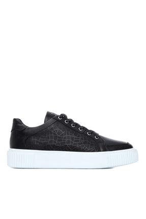 KEMAL TANCA Erkek Siyah Deri Sneakers Spor Ayakkabı 352 14100Y21