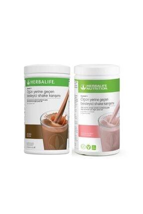 Herbalife Ahududulu Beyaz Çikolatalı + Çikolatalı Shake Set  2 Li