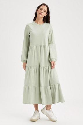 DeFacto Volanlı Relax Fit Maxi Yazlık Elbise