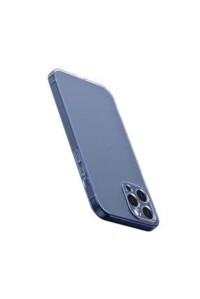 Baseus Simple Case Iphone 12 Pro Max 6.7 Uyumlu Ince Şeffaf Silikon Kılıf Şeffaf