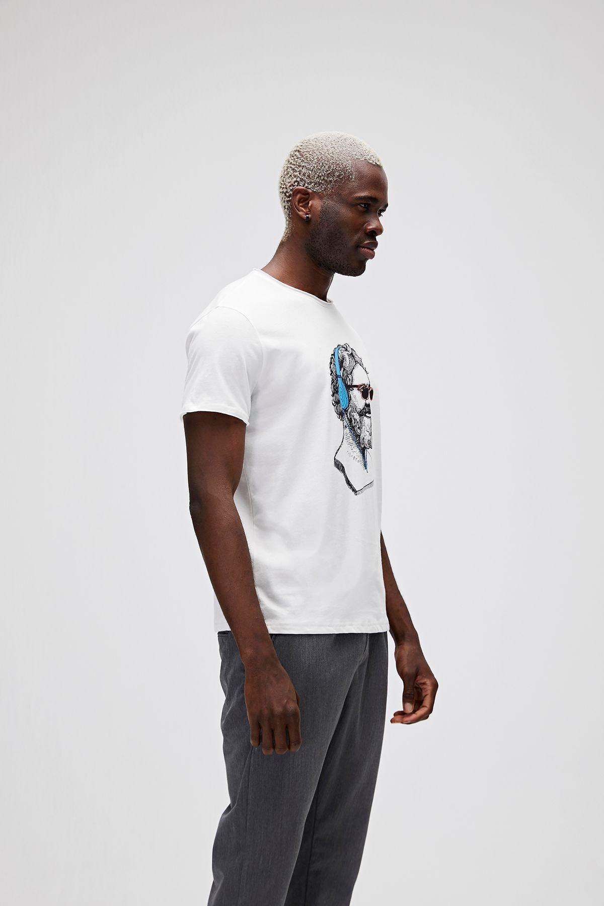 Bad Bear Erkek Beyaz Baskılı T-Shirt 2