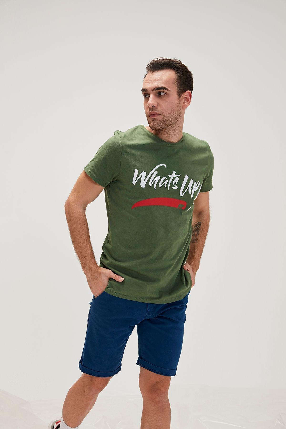 Bad Bear Erkek Haki Baskılı T Shirt 20.01.07.028 1
