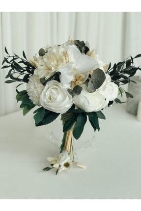 Almila Store Yeni Sezon Beyazın Büyüsü Gelin Buketi Ve Damat Yaka Çiçeği Yapay Çiçek Ve Şoklanmış Ot