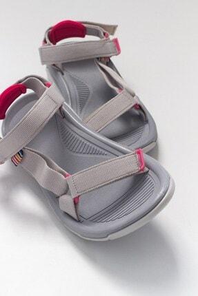 LuviShoes S1 Gri Tekstil Kadın Sandalet