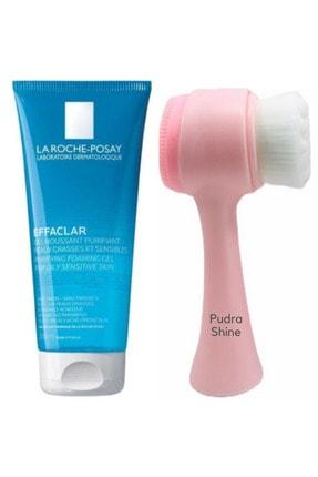 La Roche Posay Effaclar Temizleme Jeli 200ml Ve Pudrashine Yüz Temizleme Fırçası Pembe