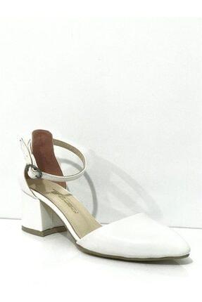 PUNTO Kadın Beyaz Rugan Topuklu Ayakkabı