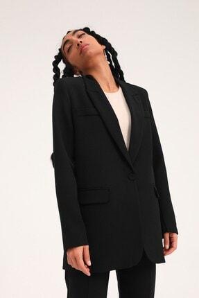 Quzu Kadın Blazer Ceket Siyah