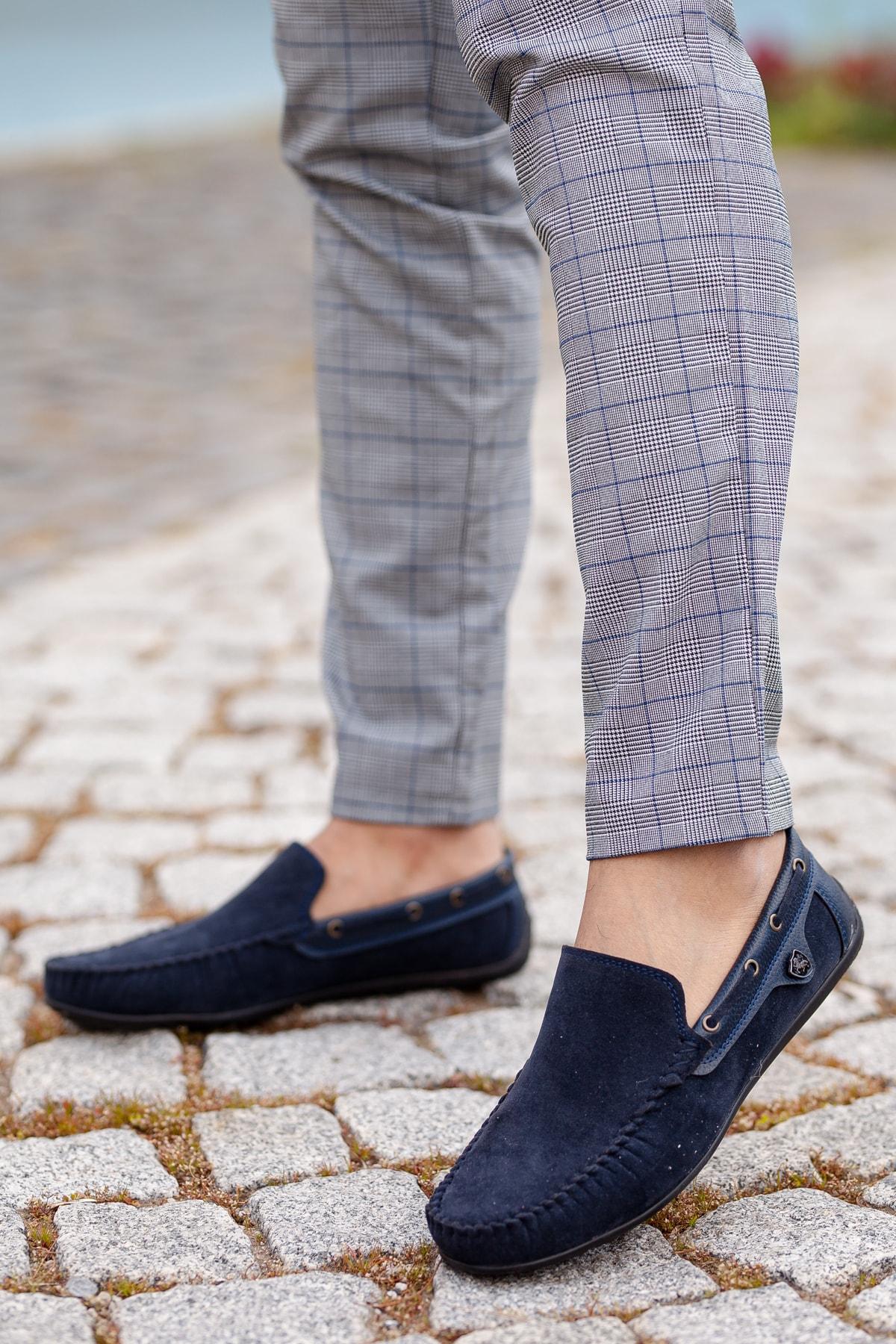 MUGGO Lacivert Süet Günlük Ayakkabı M3473 Hediye 1