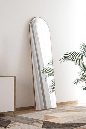 bluecape Ceviz Antre Koridor Konsol Duvar Salon Banyo Wc Ofis Yatak Odası Boy Ayna 120x40 Cm