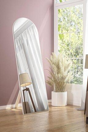 bluecape Beyaz Ayaklı Antre Koridor Duvar Salon Boy Aynasi  150x50 Cm