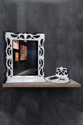 Hediyeler Kapında 55x67 Cm Dekoratif Çerçeveli Ayna Ve Işlemeli Stand Seti