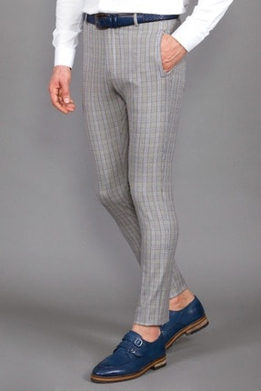 Mcr Ekose Desenli Super Slım Pantolon