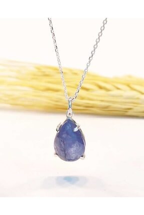 eysell jewellery Tanzanit 925 Ayar Gümüş Özel Tasarım Kolye 3,5 Crt