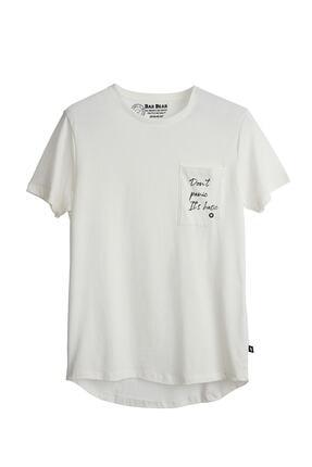 Bad Bear Erkek Kırık Beyaz  T-Shirt