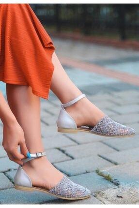 ESPARDİLE Kadın Gri Örgülü Sandalet