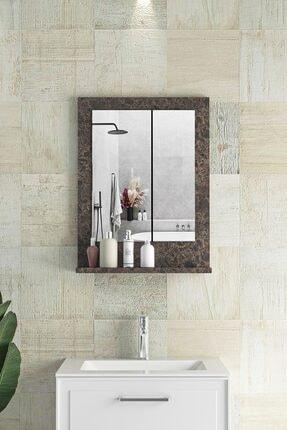 bluecape Verona  Ürgüp Raflı Dresuar Hol Koridor Duvar Salon Banyo Wc Ofis Çocuk Yatak Odası Boy Ayna 45x60cm