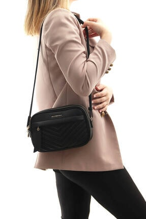 Silver Polo Sılver Polo Siyah Iki Bölmeli Kadın Çapraz Çanta/postacı Çantası Sp991