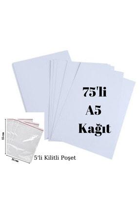 Palifix 75 Adet A5 Fotokopi Baskı Yazıcı Kağıdı-5'li Kilitli Poşet