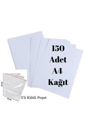 Palifix 150 Adet A4 Fotokopi Baskı Yazıcı Kağıdı-5'li Kilitli Poşet