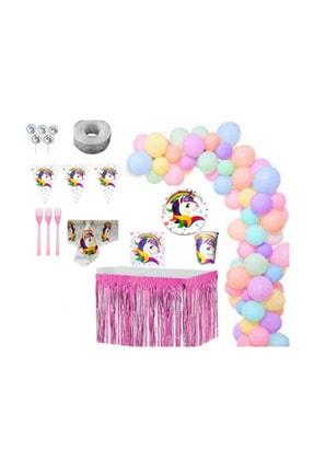 UNICORN Doğum Günü Parti Seti 8 Kişilik