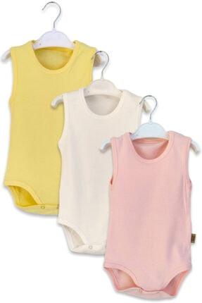 Çiçek Bebe Kız Bebek Karışık Renkli Askılı Body 3'lü