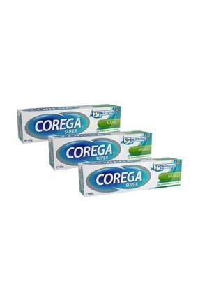 Corega Diş Protezi Yapıştırıcı Krem Naneli 40 Gr-3 Adet