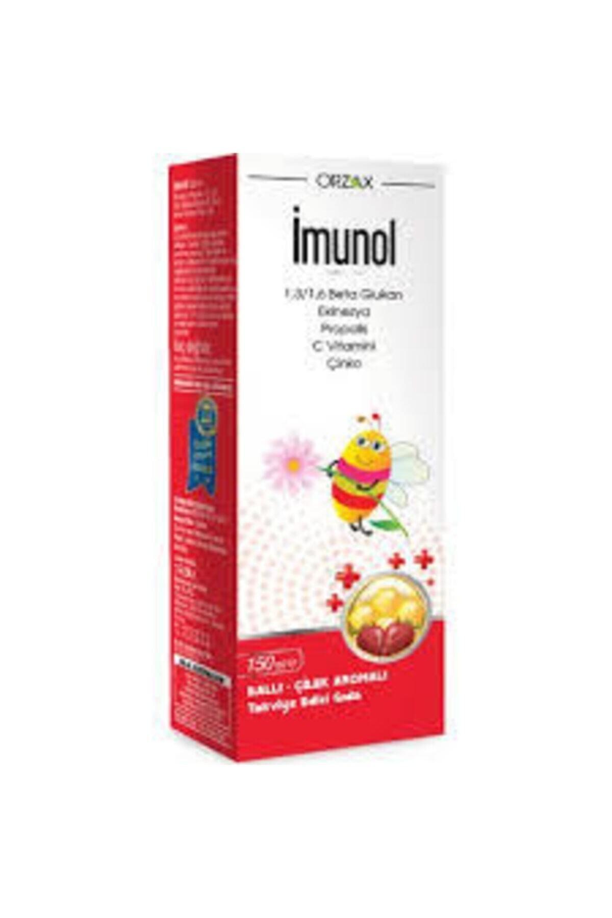 Orzax Imunol Ballı Çilek Aromalı Şurup 2