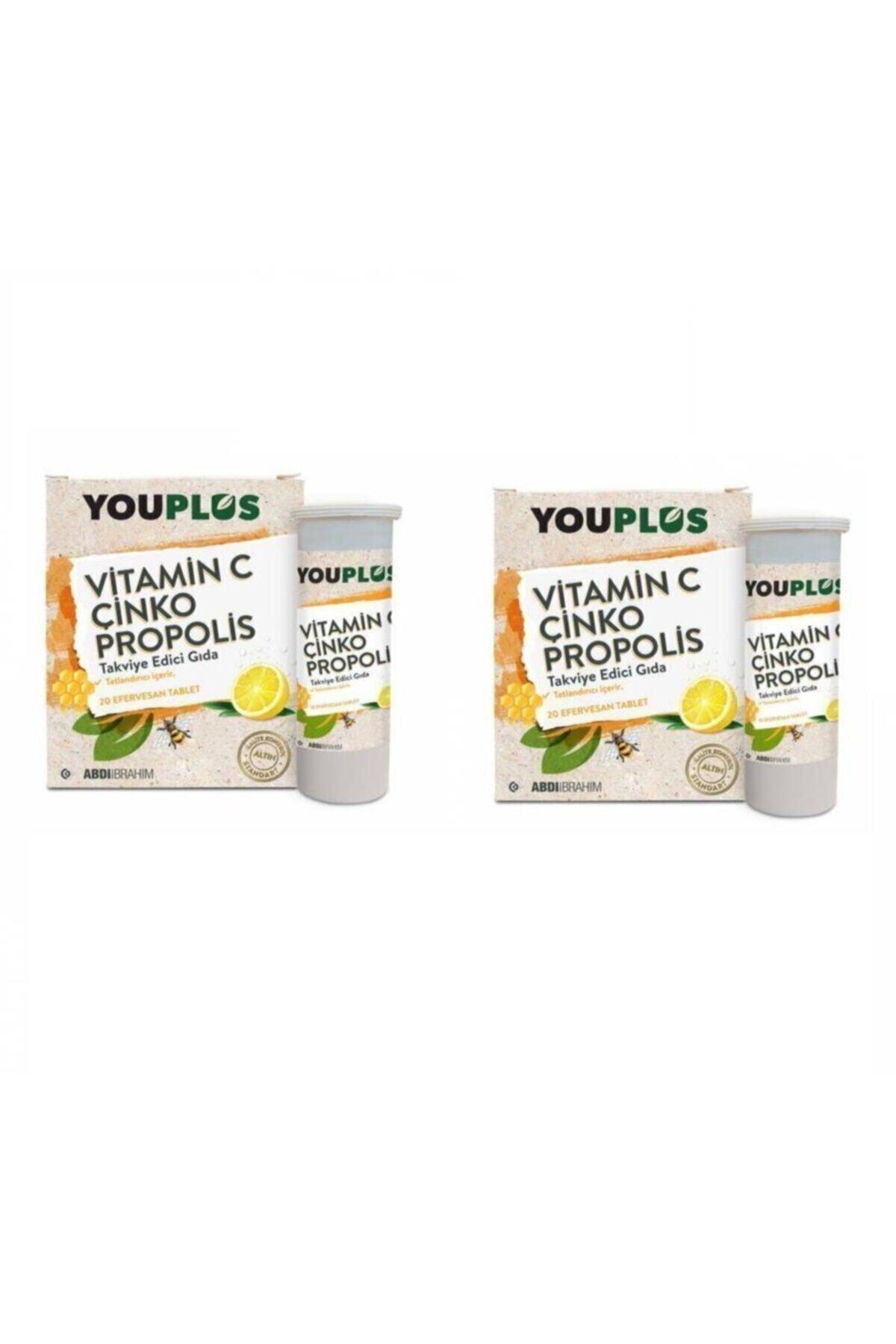 Youplus Kontrol - Vitamin C Çinko Propolis 20 Efervesan Tablet 2 Paket 1